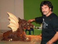 Modelage d'un Dragon - Salon du chocolat 2007 - Thionville