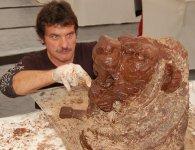 Taille d'une tête de Lion - Salon du chocolat 2008 - Thionville