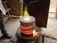1 - Montée en température : brûleur au propane