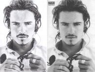 Portrait de l'acteur Orlando Bloom + photo originale -