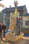 7 - La sculpture est terminée, elle va rejoindre son emplacement définitif