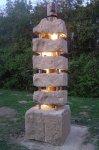 Evolution - Hettange-Grande - 3,60 m - Pierre de Jaumont - En collaboration avec le sculpteur Alain MILA - 2003