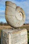 Ammonite - Hettange-Grande - 3 m - Grés hettangien - 1997