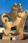 Fontaine Lion - Roussy le Village 1999 - 1,80 m - Pierre de Jaumont