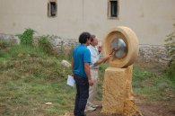 Gong (vue arrière) - 2ème Symposium du Moulin de Buding 2009 - Pierre et Métal