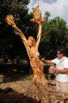 Taormina Sicile - Symposium de sculptureau pied de l'Etna :Oeuvre terminée : intitulée ERUPTION - 2010