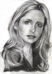 Portrait de l'actrice Sarah Michelle Gellar -