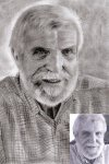 portrait  du grand-père de l'artiste + photo originale -